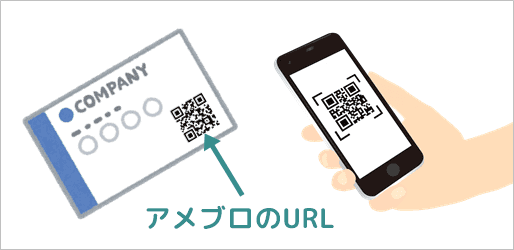 名刺などにアメブロURLのQRコードを載せる