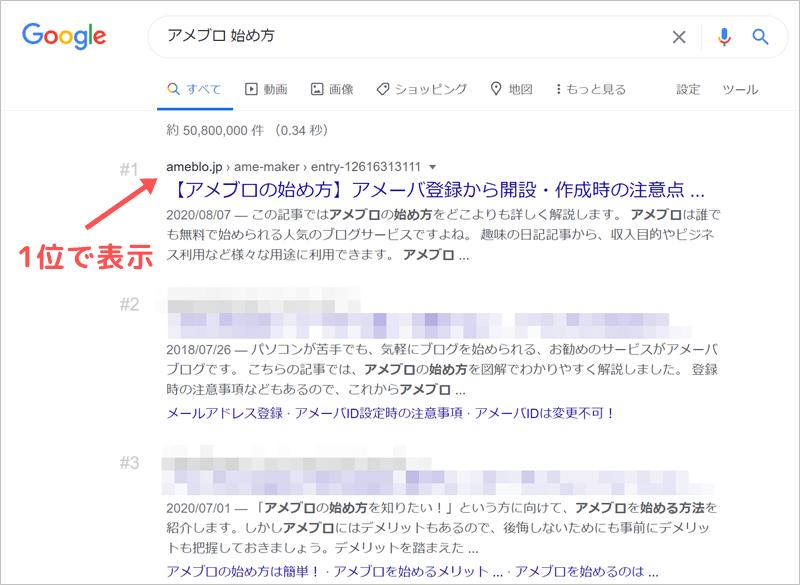 アメブロを検索エンジンでアクセスアップ②